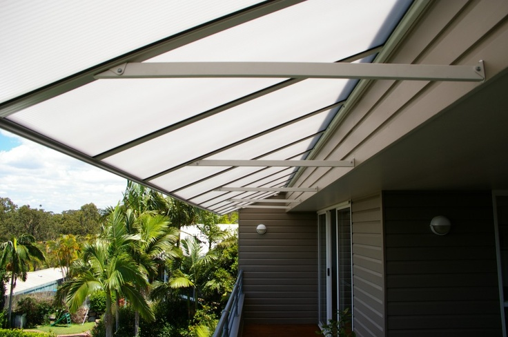 awnings made of polycarbonate