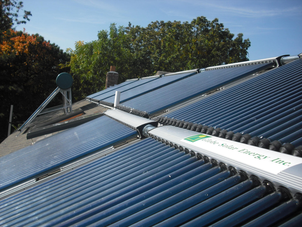 Solar water heating collectors