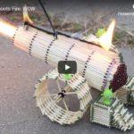 Видео. Пушка из спичек